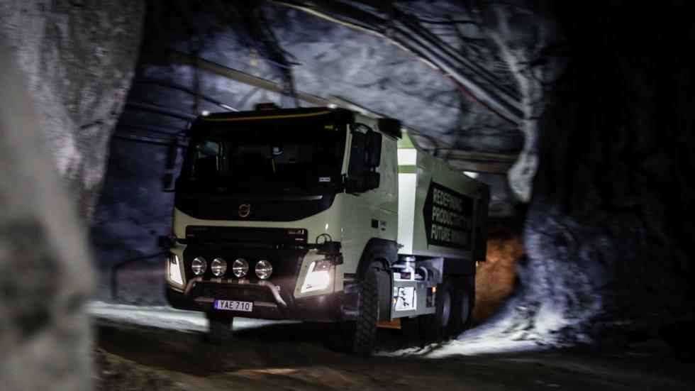 Camiones autónomos de Volvo trabajarán en una mina (vídeo)