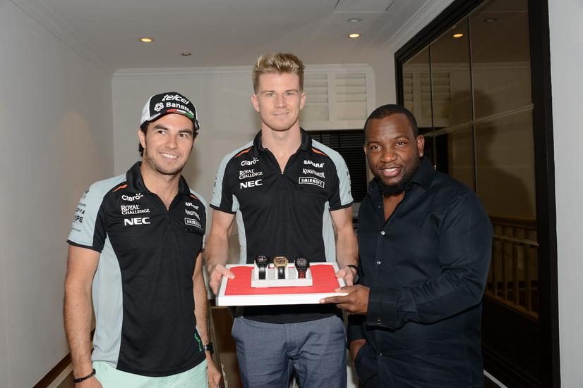 Gran Premio de Singapur: Force India y los relojes Fabio Siby