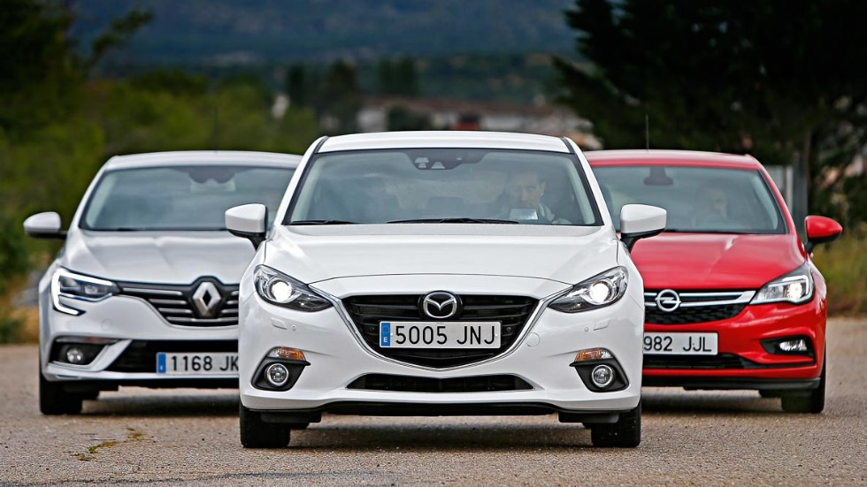 Mazda 3 Skyactiv-D, Opel Astra 1.6 CDTI y Renault Mégane dCi
