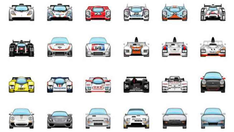 Envía emoticonos de tu Porsche favorito a tus amigos por WhatsApp