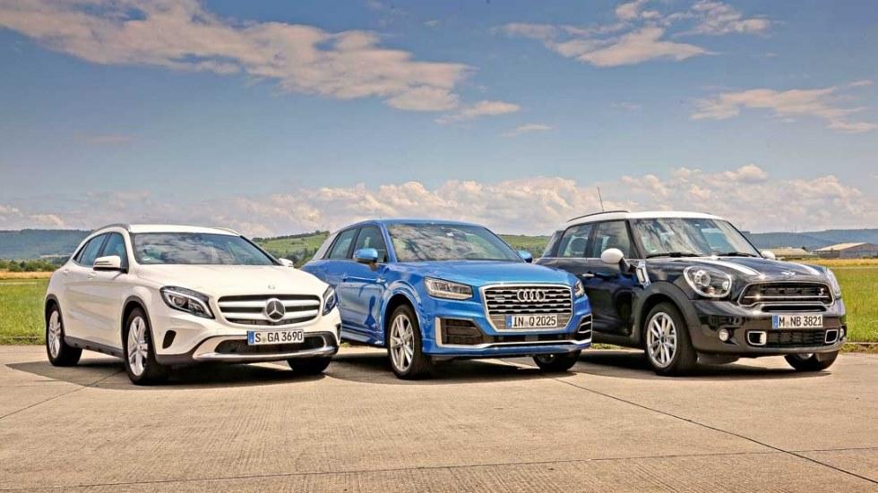 Comparativa SUV: Audi Q2, Mercedes GLA y Mini Countryman
