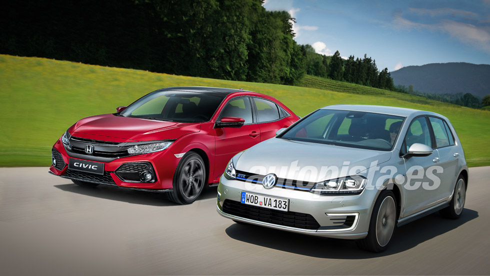 Honda Civic vs VW Golf: el duelo de compactos de 2017