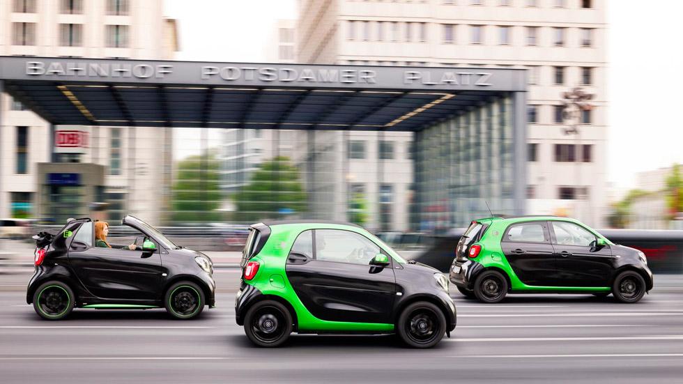 Smart fortwo y forfour eléctricos 2017: electrificación urbana
