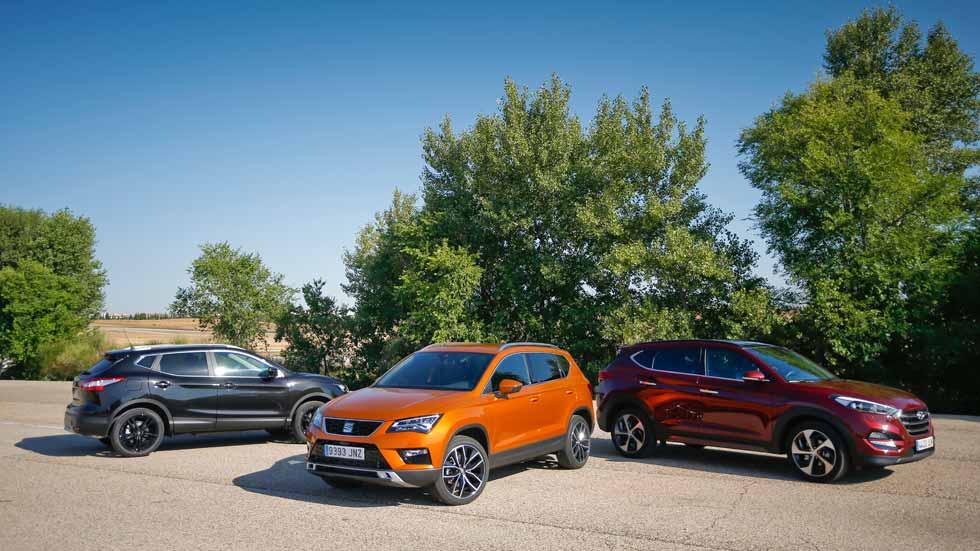 Seat Ateca, Hyundai Tucson y Nissan Qashqai: ¿cuál es mejor?