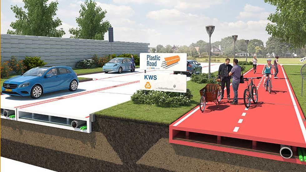 Holanda y sus carreteras construidas con plástico reciclado (vídeo)