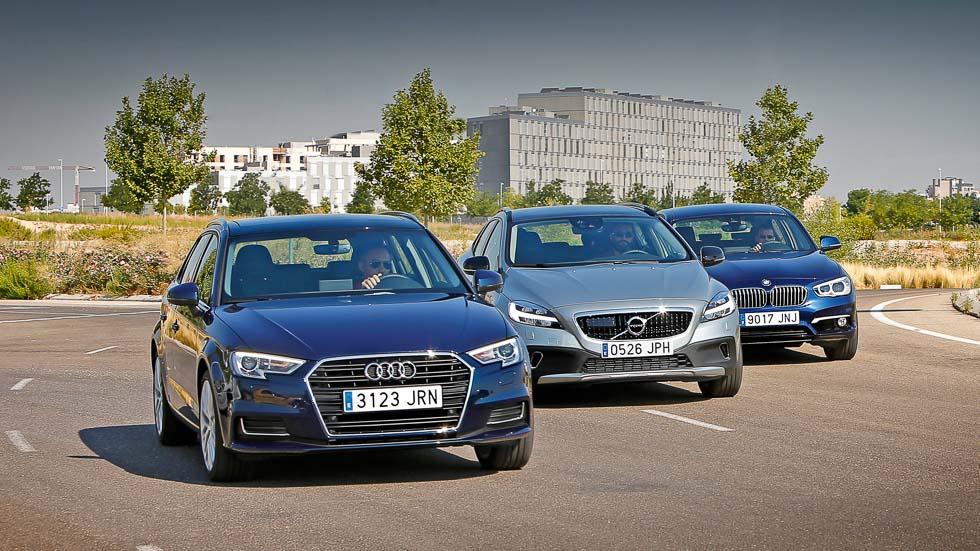 Audi A3 1.6 TDI, BMW 116d y Volvo V40 D2, economía de lujo