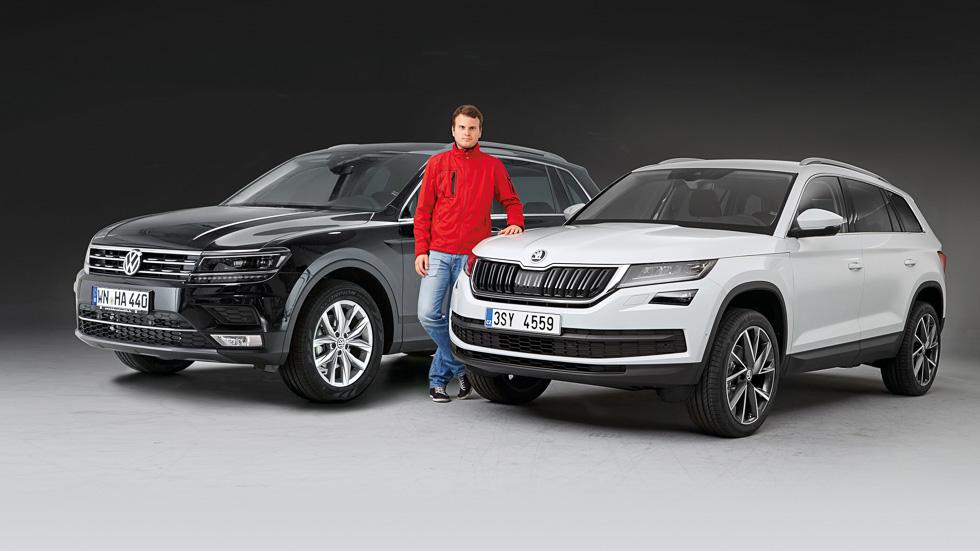 Skoda Kodiaq y Volkswagen Tiguan, frente a frente