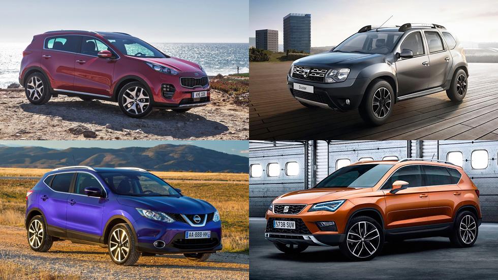 Los mejores SUV de 15.000 a 25.000 euros