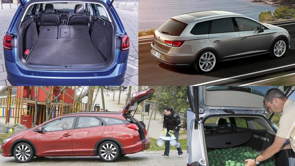 Los coches compactos familiares: ¿cuál tiene mejor maletero?