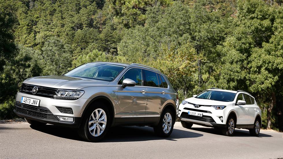 VW Tiguan vs Toyota RAV4: dos SUV muy completos, a prueba
