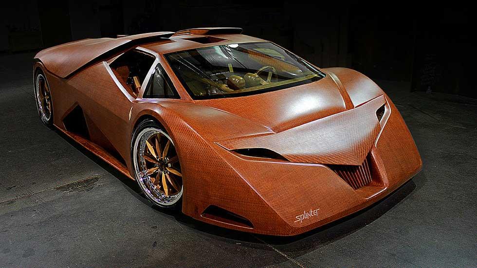 ¿Te imaginas un superdeportivo de 650 CV fabricado en madera?