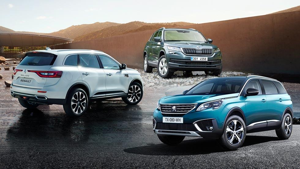 Skoda Kodiaq, Peugeot 5008 y Renault Koleos: en busca del SUV perfecto