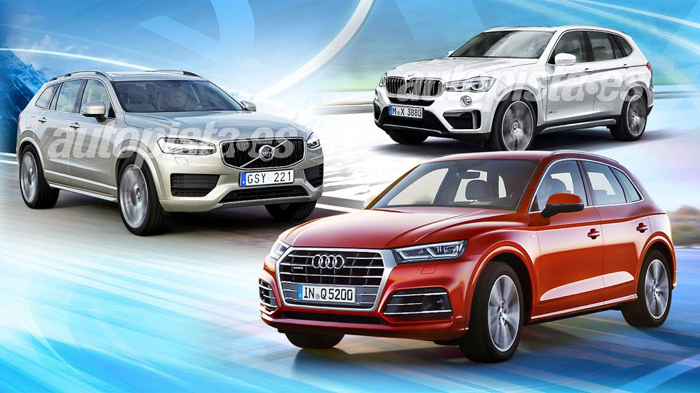 Audi Q5, BMW X3 y Volvo XC60: ¿qué SUV será mejor en 2017?