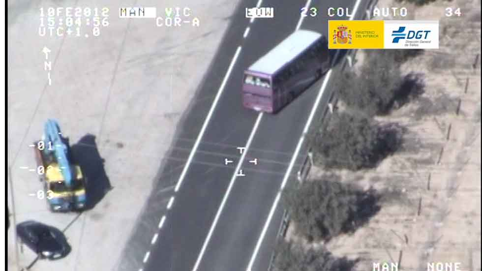Infracciones y accidentes de autobuses y camiones (vídeo)