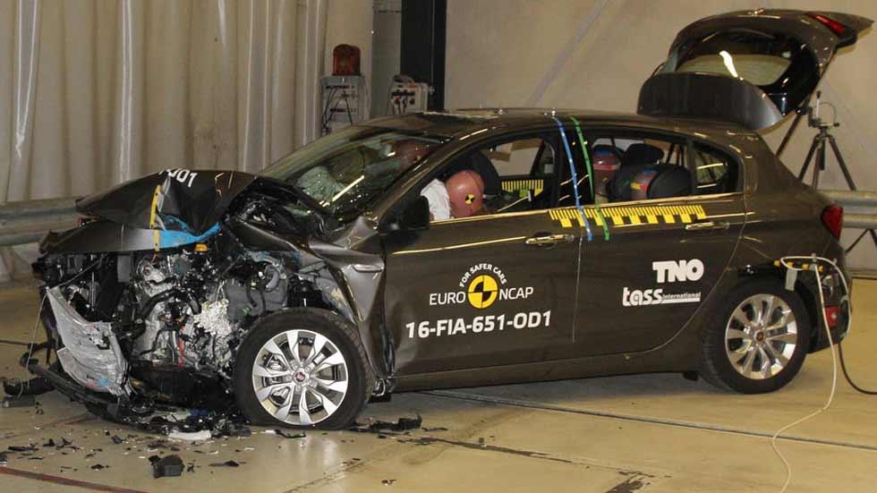 Fiat Tipo: 3 estrellas en los test de choque Euro NCAP (vídeo y fotos)