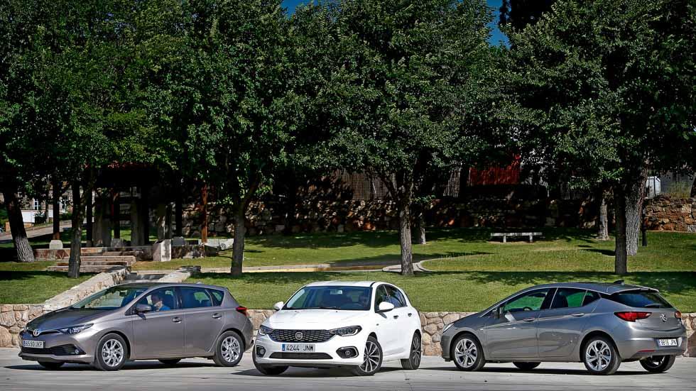 Fiat Tipo, Opel Astra y Toyota Auris: tres compactos Diesel a prueba