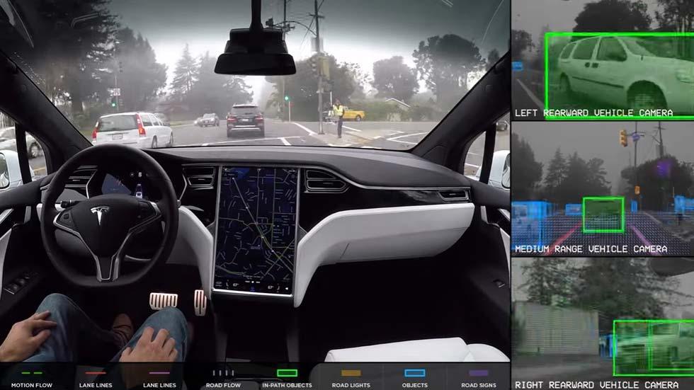 Así se guían los coches autónomos de Tesla (vídeo)