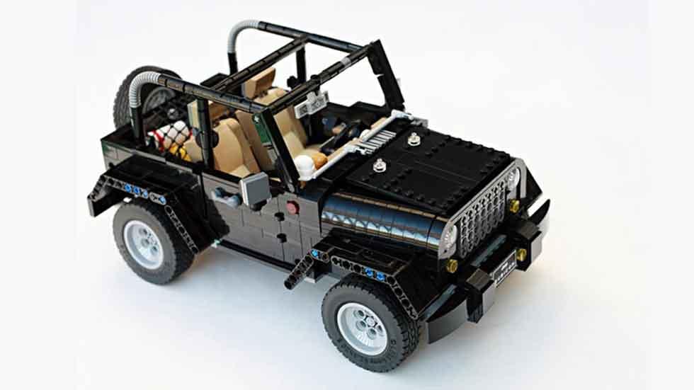 Los Land Rover Discovery y Jeep Wrangler con piezas de Lego