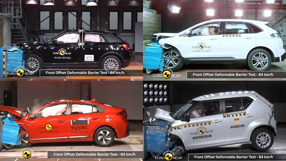 Los coches más seguros en las últimas pruebas de choque Euro NCAP (Vídeos)