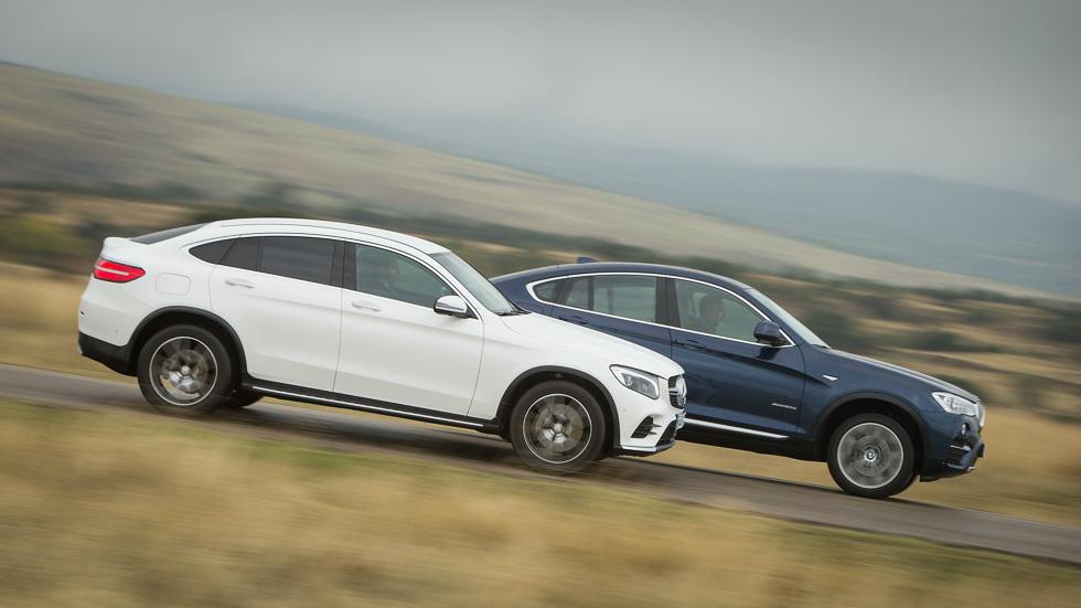 BMW X4 vs Mercedes GLC Coupé: a prueba dos SUV con traje deportivo