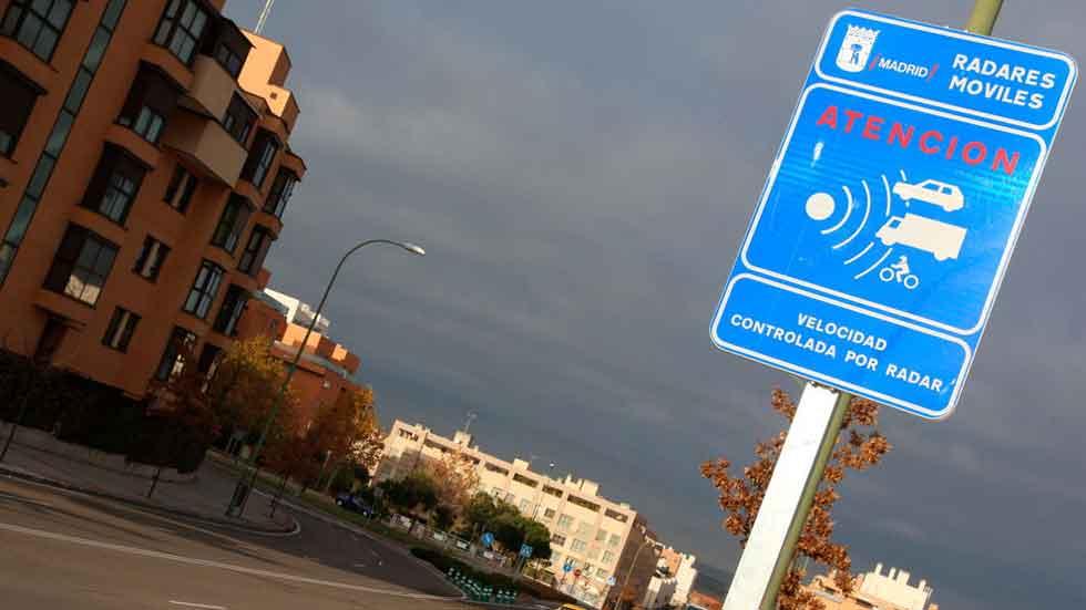 Más radares móviles en Madrid en 2017