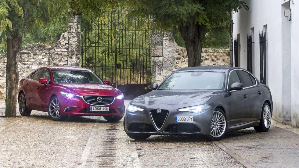 Alfa Romeo Giulia 2.2 Diesel y Mazda6 2.2 SkyActiv-D, ¿cuál es mejor?