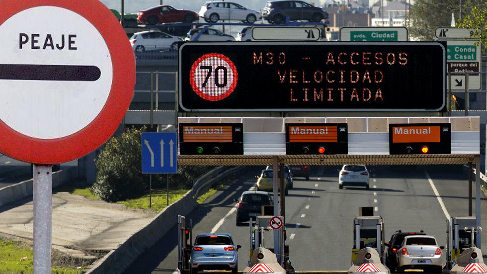 """Madrid instalará peajes """"eventuales"""" en los accesos en la M-30"""