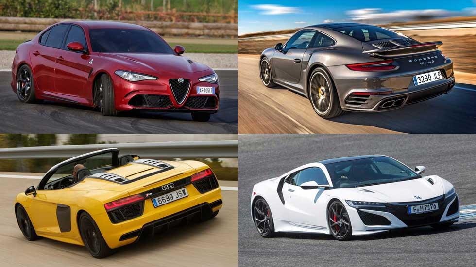 Los 10 mejores coches deportivos probados de 2016