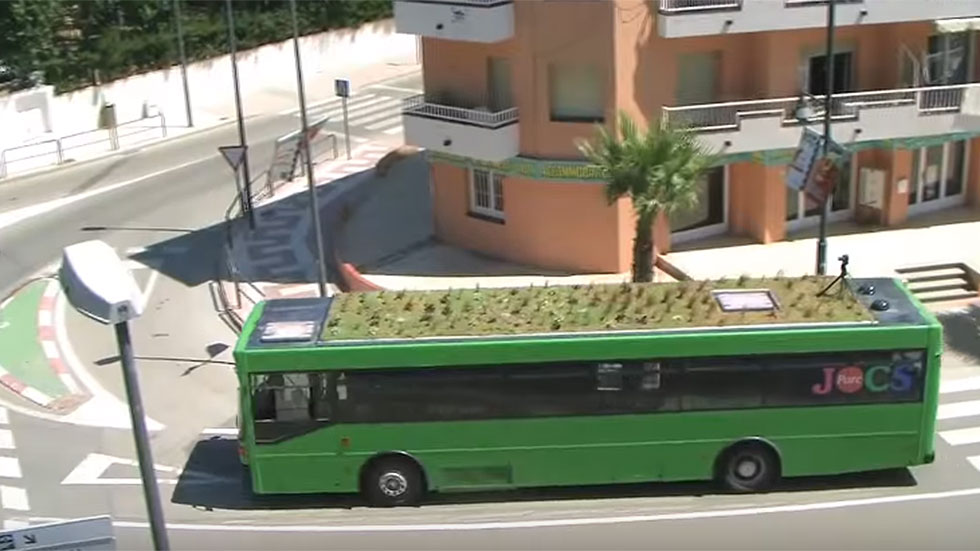 Madrid tendrá autobuses con jardines en el techo