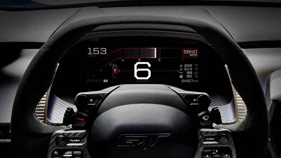 La pantalla digital del nuevo Ford GT, ¿el cuadro del futuro? (fotos y vídeo)
