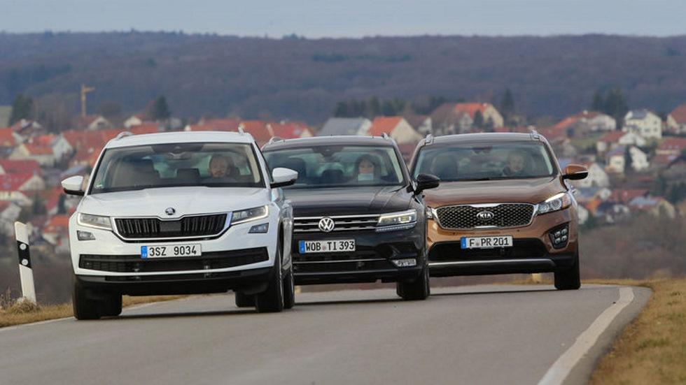 Comparativa SUV: Skoda Kodiaq, VW Tiguan y Kia Sorento, ¿cuál es mejor?