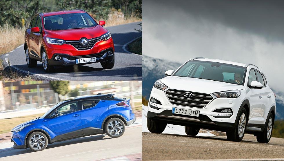 Toyota C-HR, Hyundai Tucson y Renault Kadjar: ¿híbrido, gasolina o Diesel?