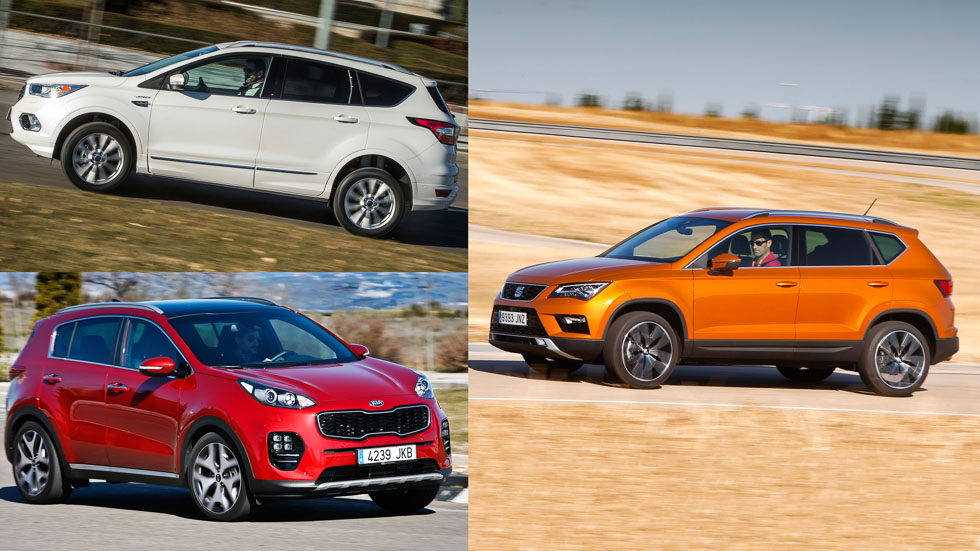Ford Kuga, Seat Ateca y Kia Sportage, ¿cuál es mejor SUV?