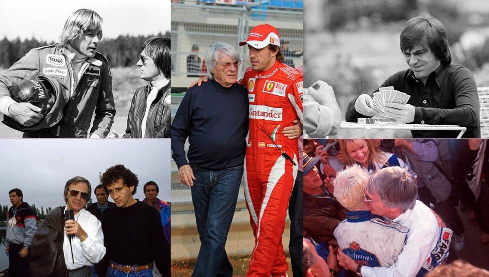 """El gran """"padrino"""" de la F1: la historia de Ecclestone (fotos)"""