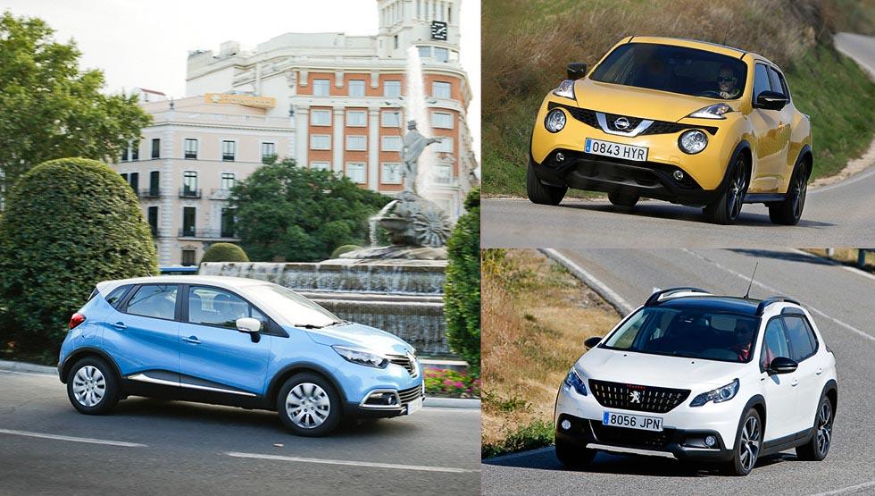 Nissan Juke, Peugeot 2008 y Renault Captur, ¿qué SUV es mejor?