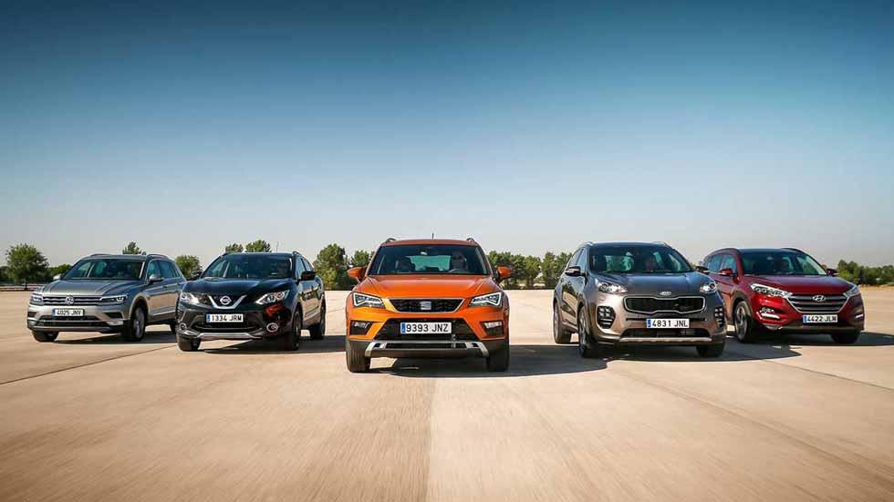 Los 20 SUV más vendidos en España en enero de 2017