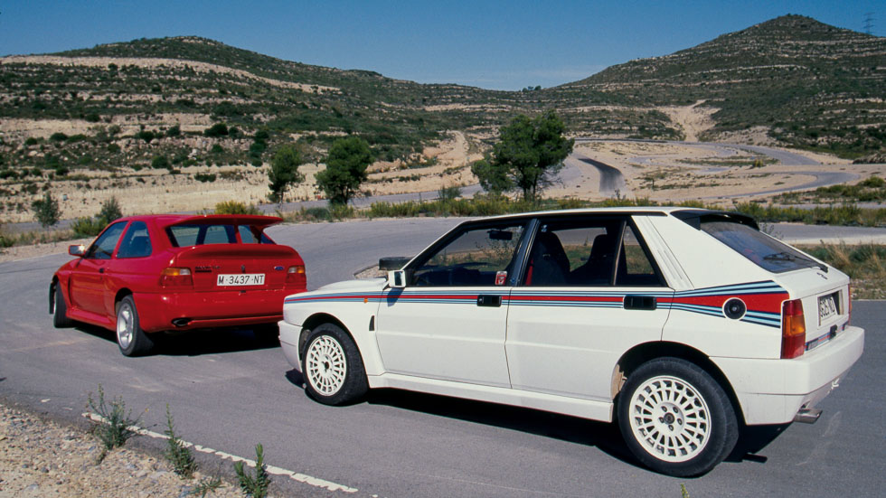 Ford Escort RS Cosworth vs Lancia Delta HF Integrale (prueba original)