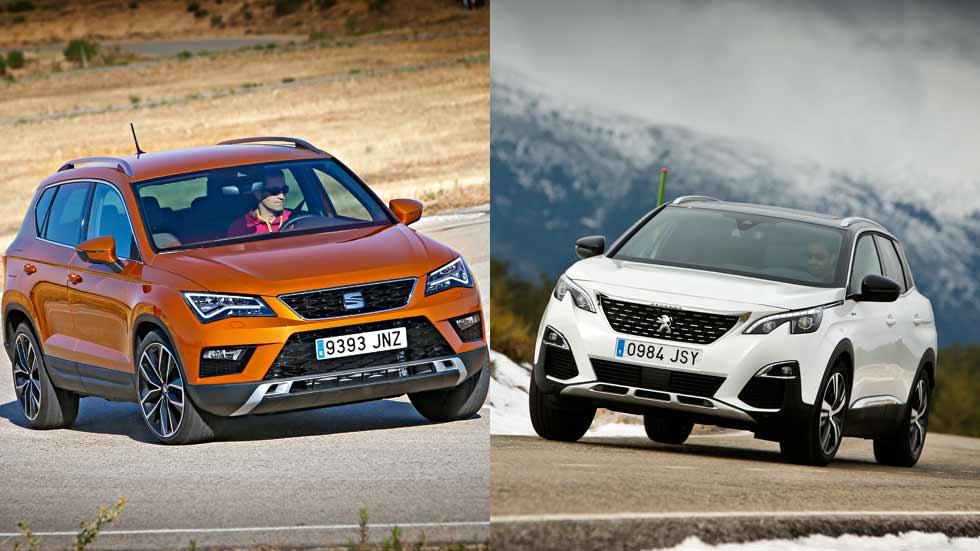 Peugeot 3008 1.2 PureTech vs Seat Ateca 1.0 TSI, ¿qué SUV es mejor?