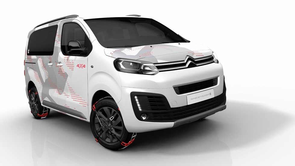 Citroën SpaceTourer 4X4: una furgoneta SUV para ir al campo