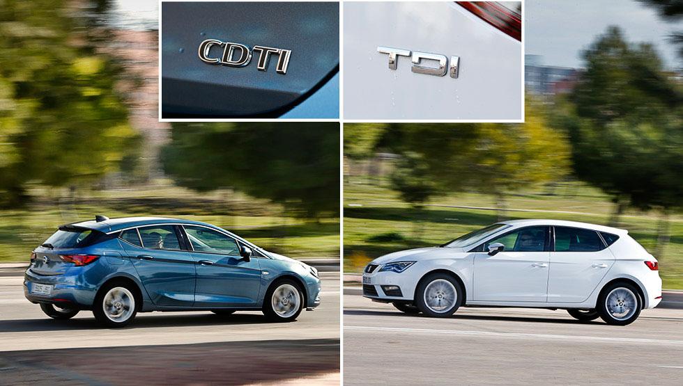 Opel Astra CDTi vs Seat León TDI, ¿qué compacto es mejor?