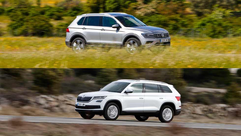 Skoda Kodiaq 2.0 TDI vs VW Tiguan 2.0 TDI, ¿qué SUV es mejor?
