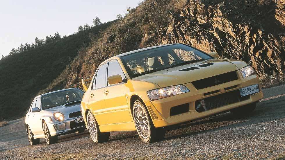 Comparativa original: Mitsubishi EVO VII vs Subaru Impreza WRX STi, ¿cuál era mejor?