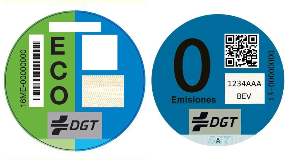 La DGT reconoce que ha enviado mal etiquetas ecológicas
