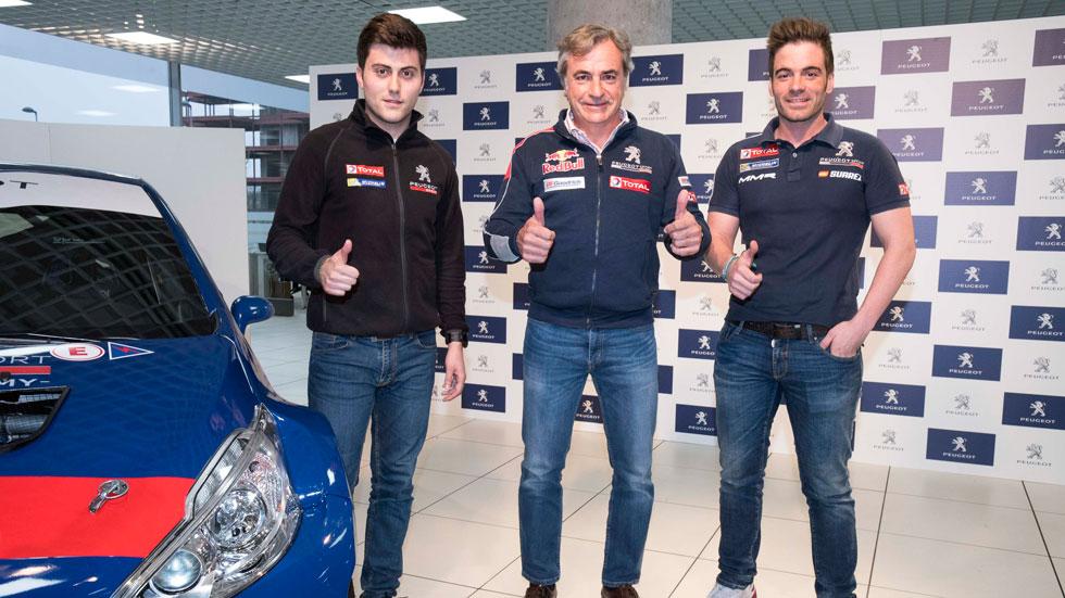 """""""Cohete"""" Suárez y Pepe López, con Peugeot Sport en el Europeo de Rallyes"""