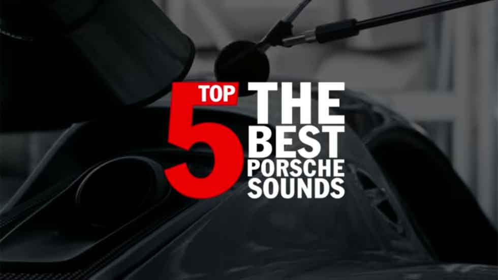 Los cinco Porsche que mejor suenan (vídeo)