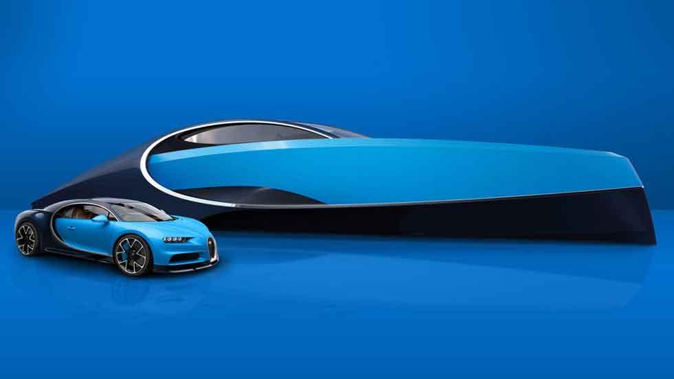 El Bugatti Chiron también navega