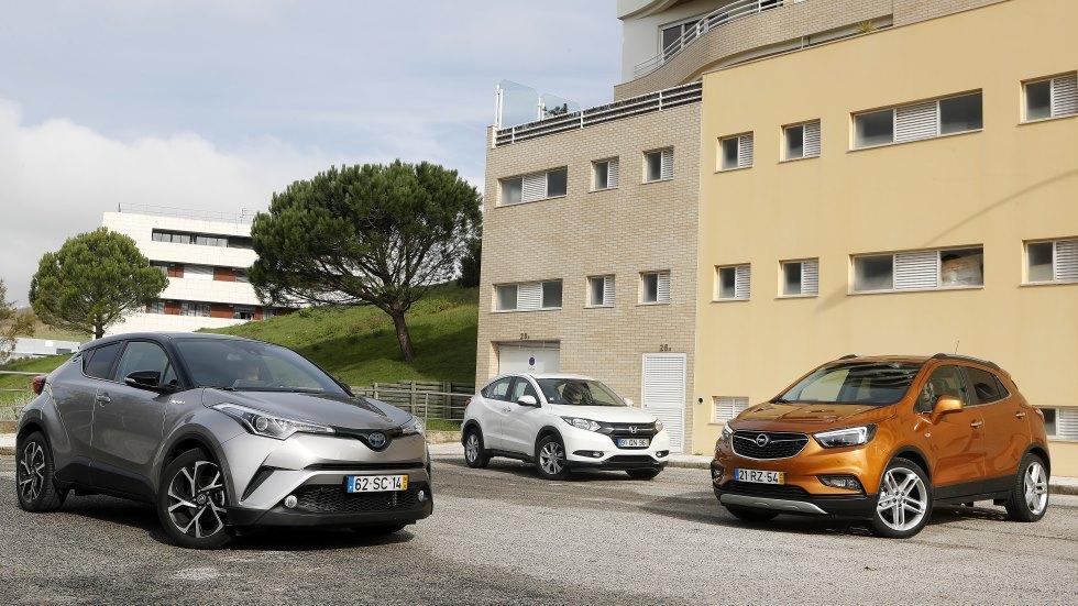 Toyota C-HR, Honda HR-V y Opel Mokka X: ¿qué SUV es mejor?