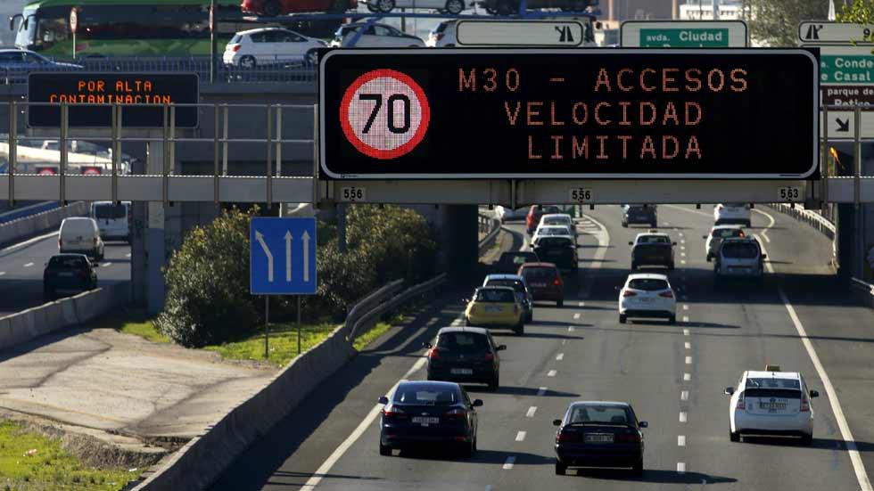 Plan A de Madrid: a 70 km/h en la M-30 desde 2018 y más medidas...