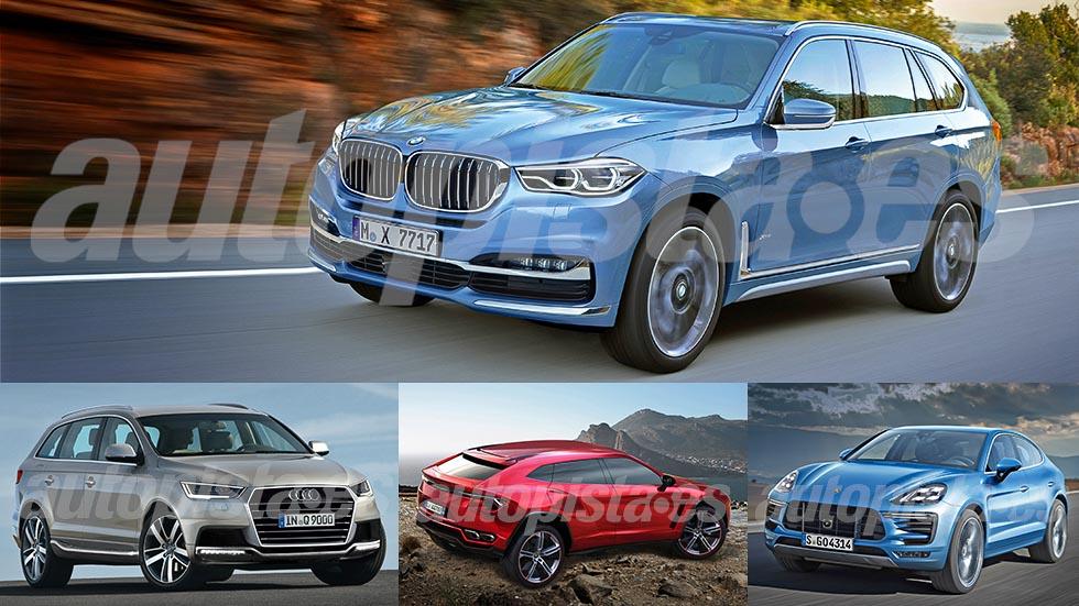 Los nuevos SUV grandes del futuro: BMW X7, Audi Q9...