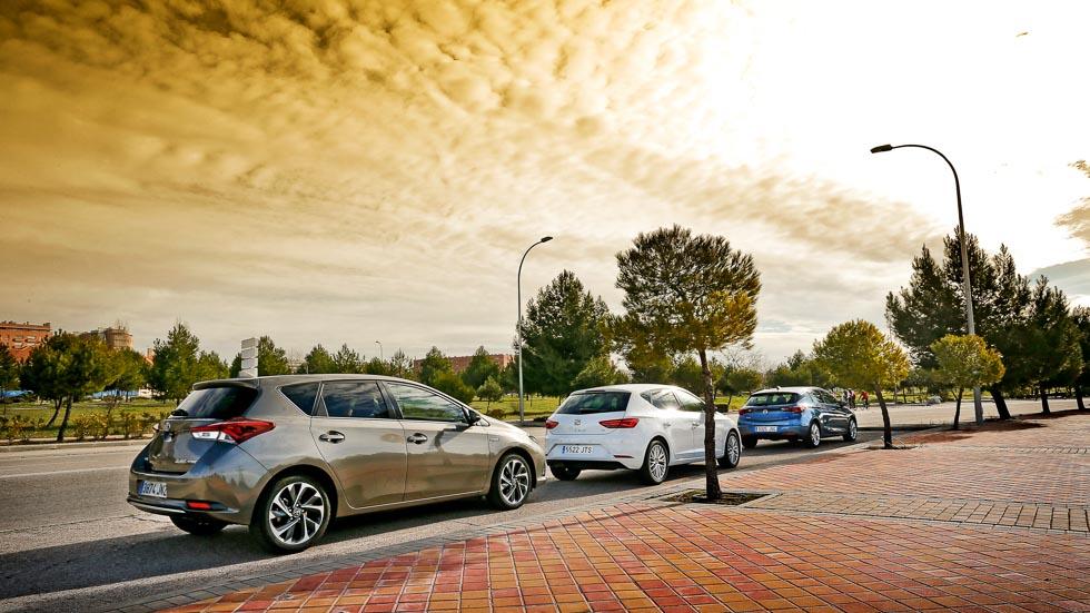 Seat León TDI, Opel Astra CDTI y Toyota Auris híbrido: ¿cuál es mejor?